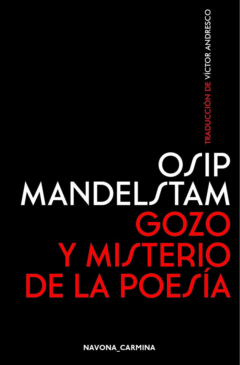 Gozo y misterio de la poesía: portada