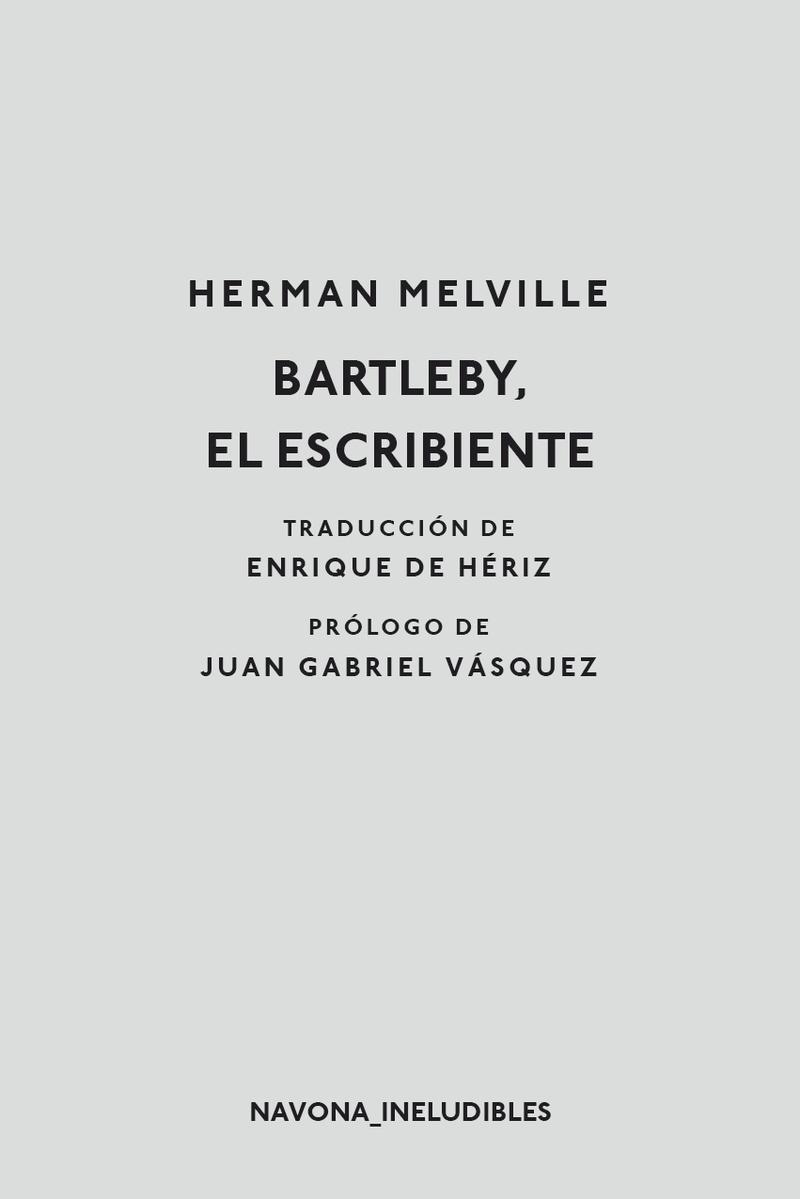 Bartleby el escribiente: portada