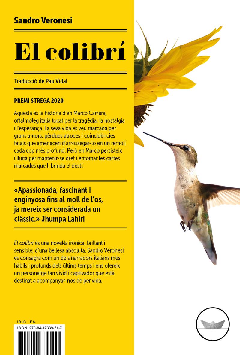 El colibrí: portada