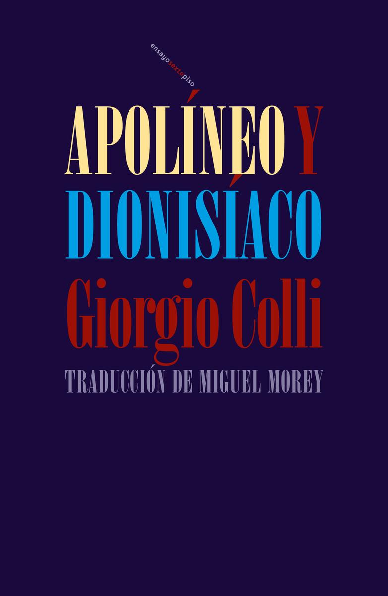 Apolíneo y dionisíaco: portada