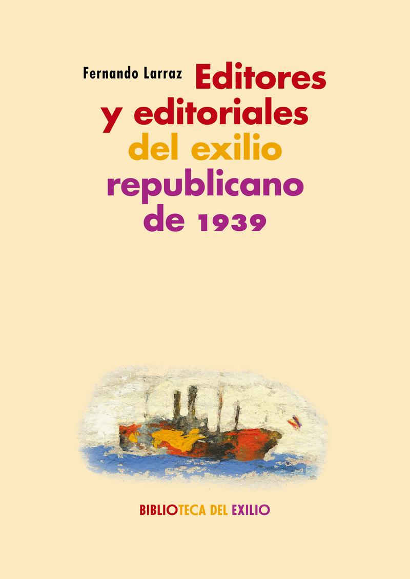 Editores y editoriales del exilio republicano de 1939: portada