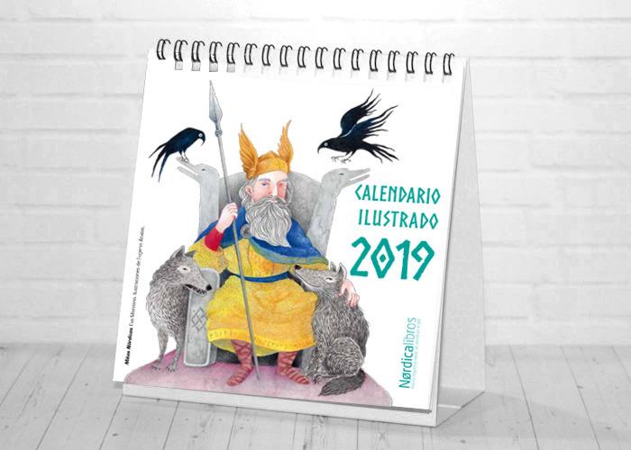 Calendario del ilustrador 2019: portada