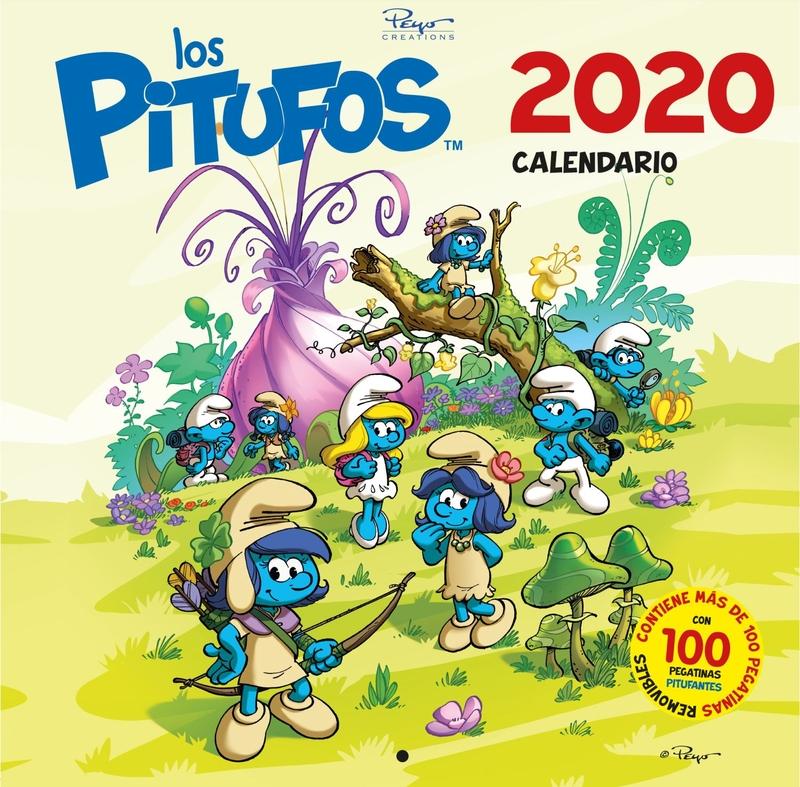 CALENDARIO LOS PITUFOS 2020: portada