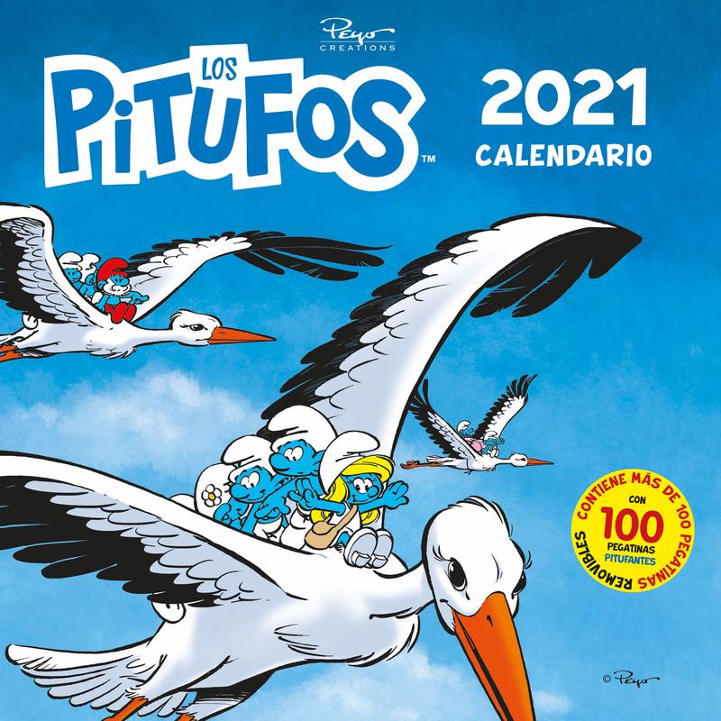 Calendario los Pitufos 2021: portada