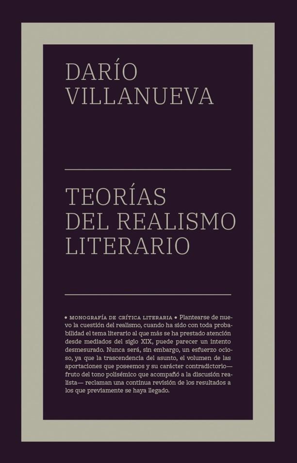 Teorías del realismo literario (NE): portada