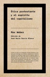 Ética protestante y el espíritu del capitalismo (NE): portada
