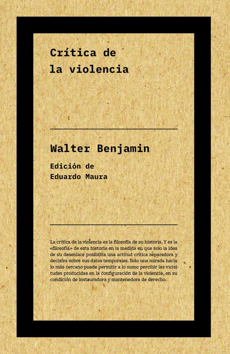 Crítica de la violencia (2ªED): portada