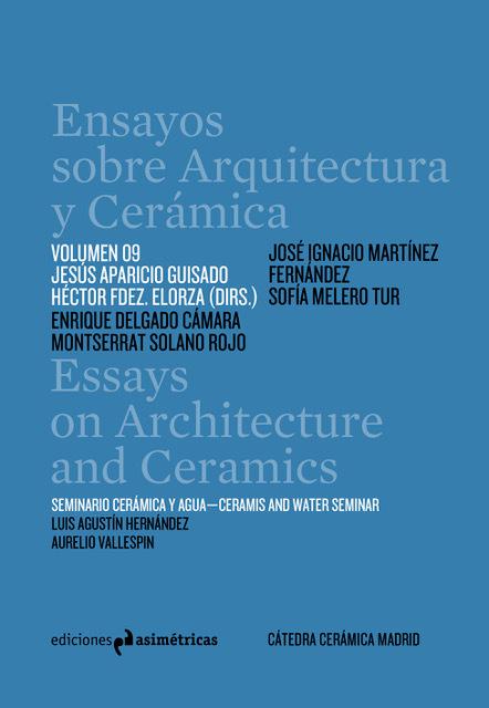 ENSAYOS SOBRE ARQUITECTURA Y CERAMICA VOL 9: portada