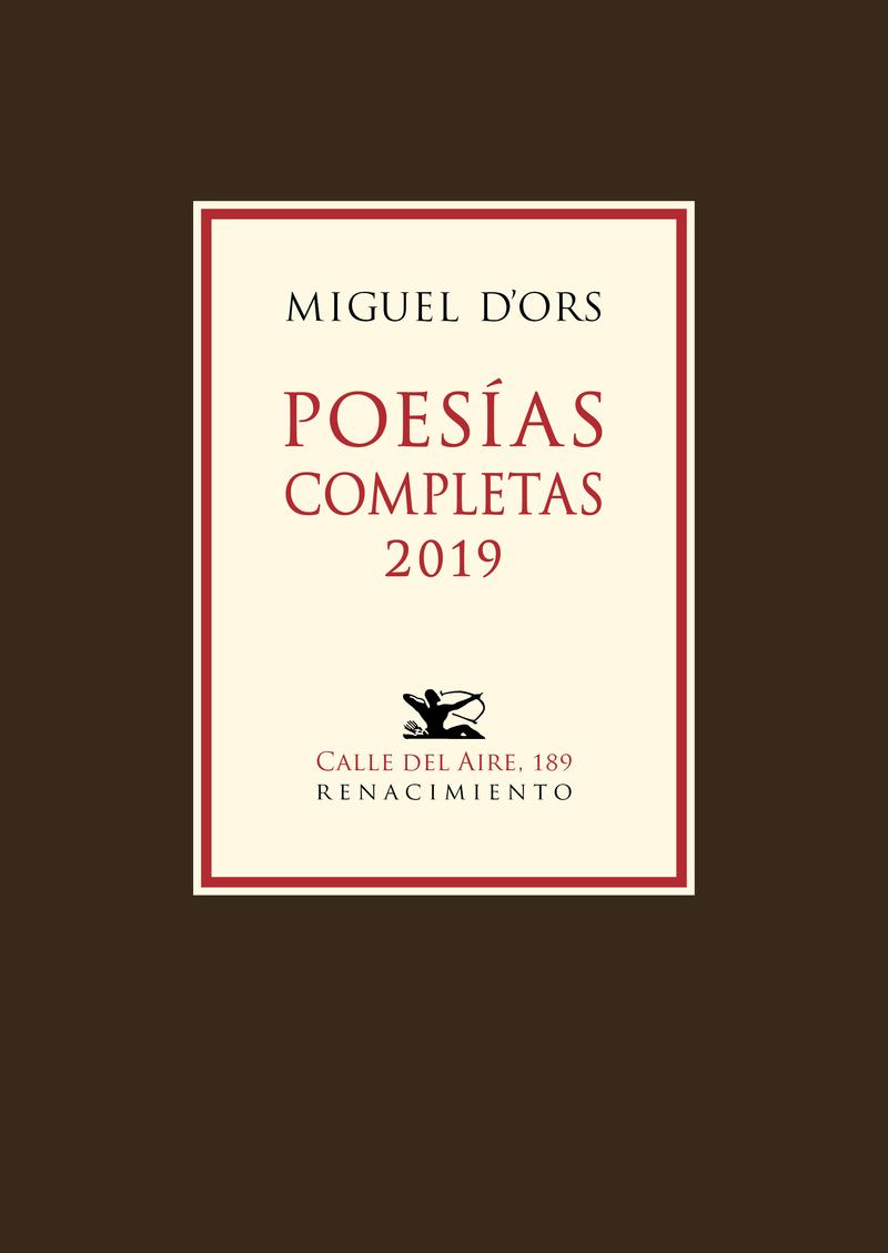 Poesías completas 2019: portada