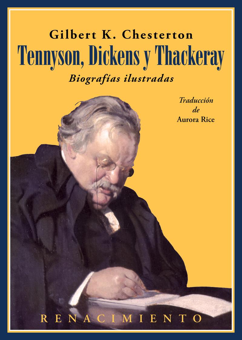 Tennyson, Dickens y Thackeray. Biografías ilustradas: portada