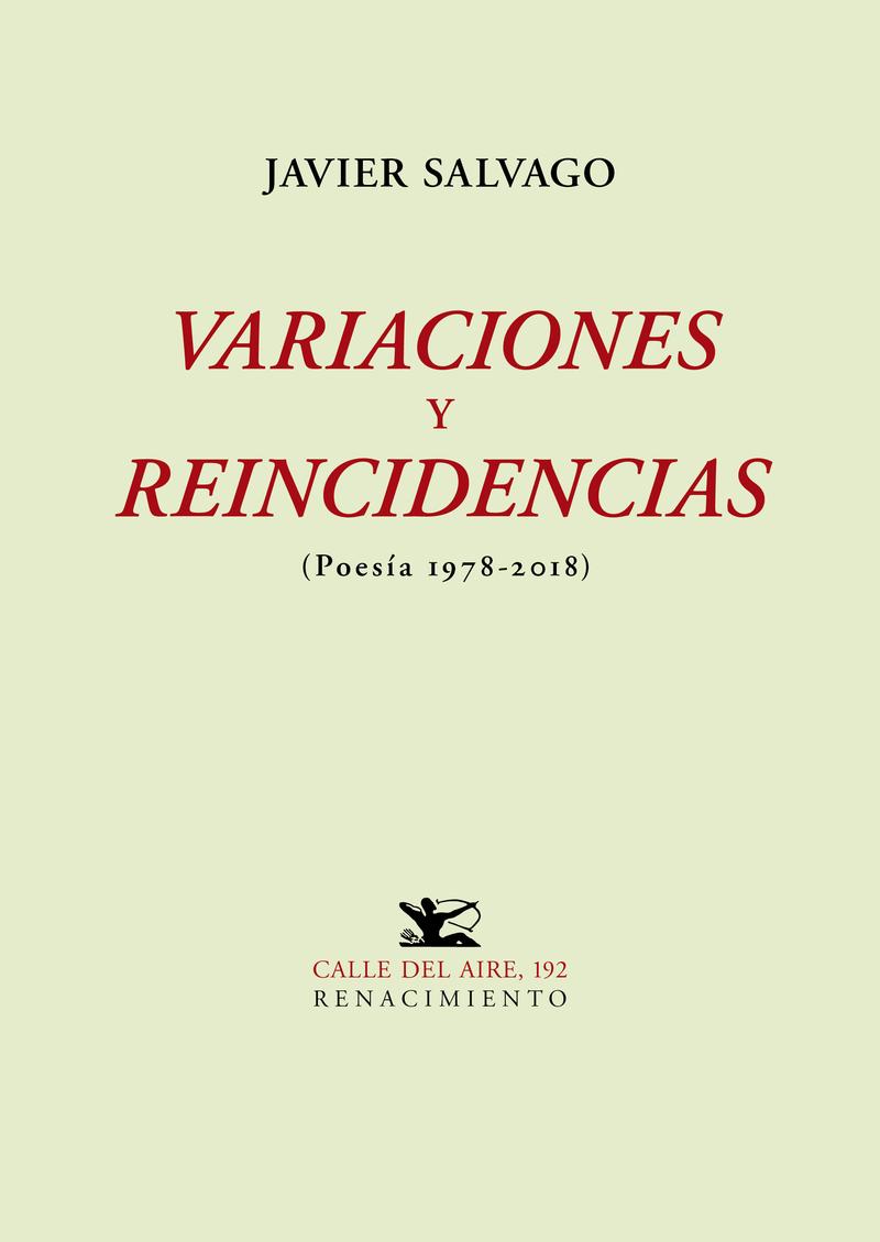 VARIACIONES Y REINCIDENCIAS: portada