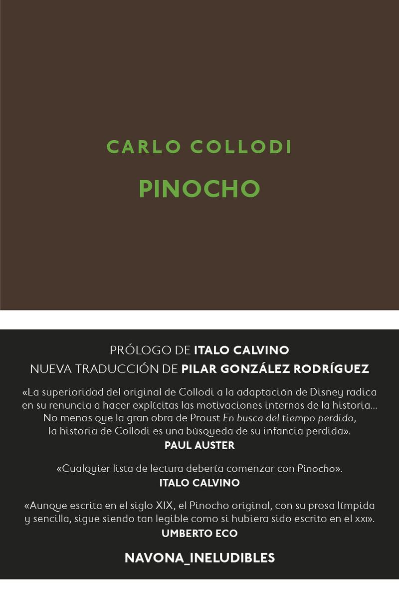 Pinocho: portada