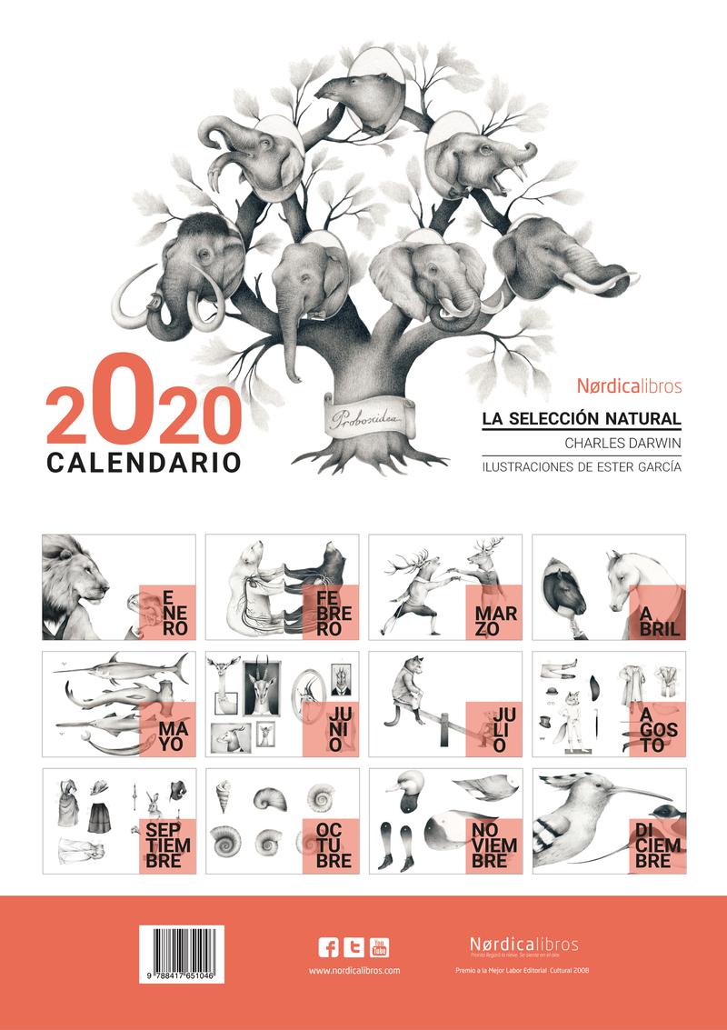 CALENDARIO 2020 LA SELECCIÓN NATURAL: portada