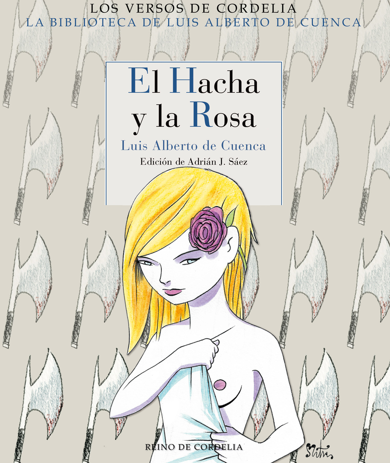EL HACHA Y LA ROSA: portada