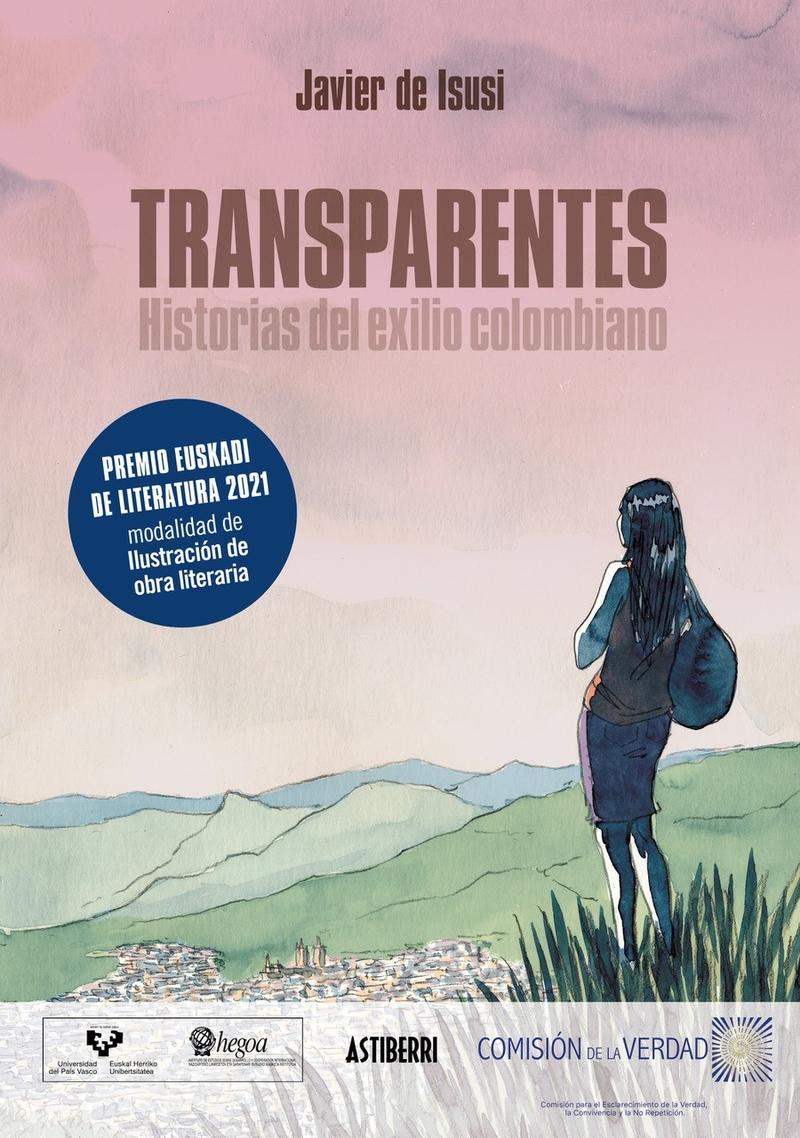 TRANSPARENTES. HISTORIAS DEL EXILIO COLOMBIANO: portada