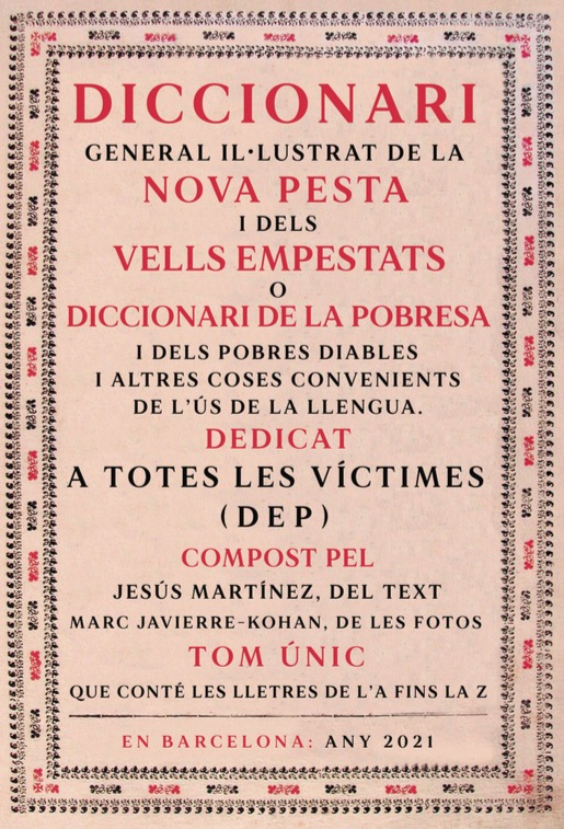 Diccionari general il·lustrat de la nova pesta: portada