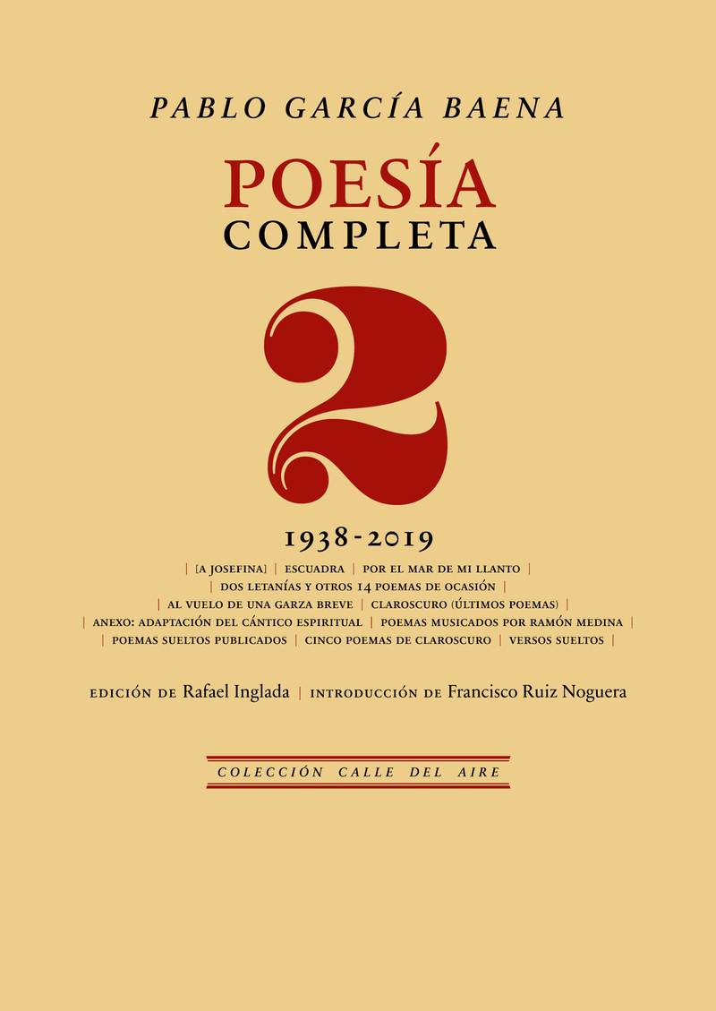 Poesía completa, 2: portada