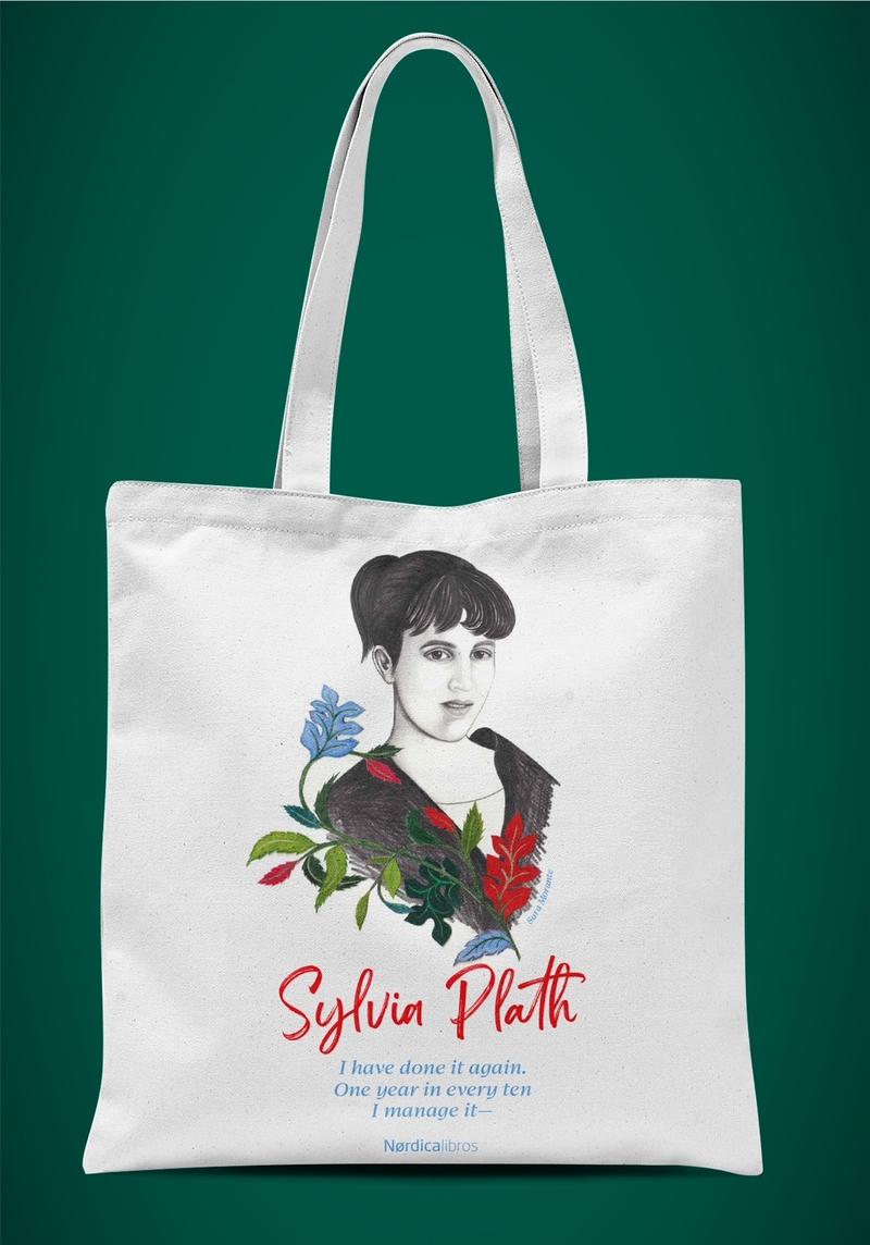 Bolsa homenaje a Sylvia Plath: portada