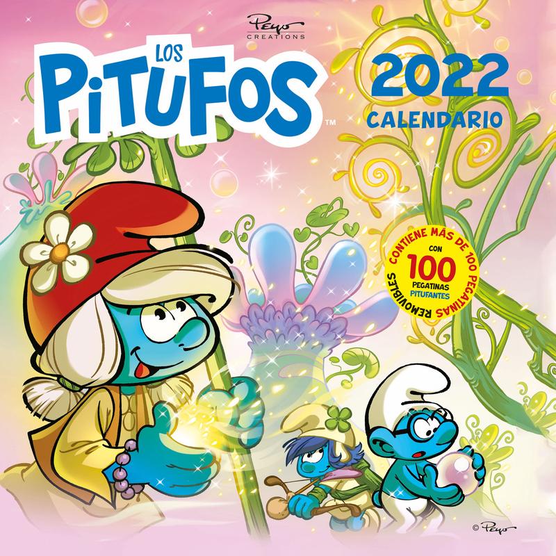 Calendario los Pitufos 2022: portada