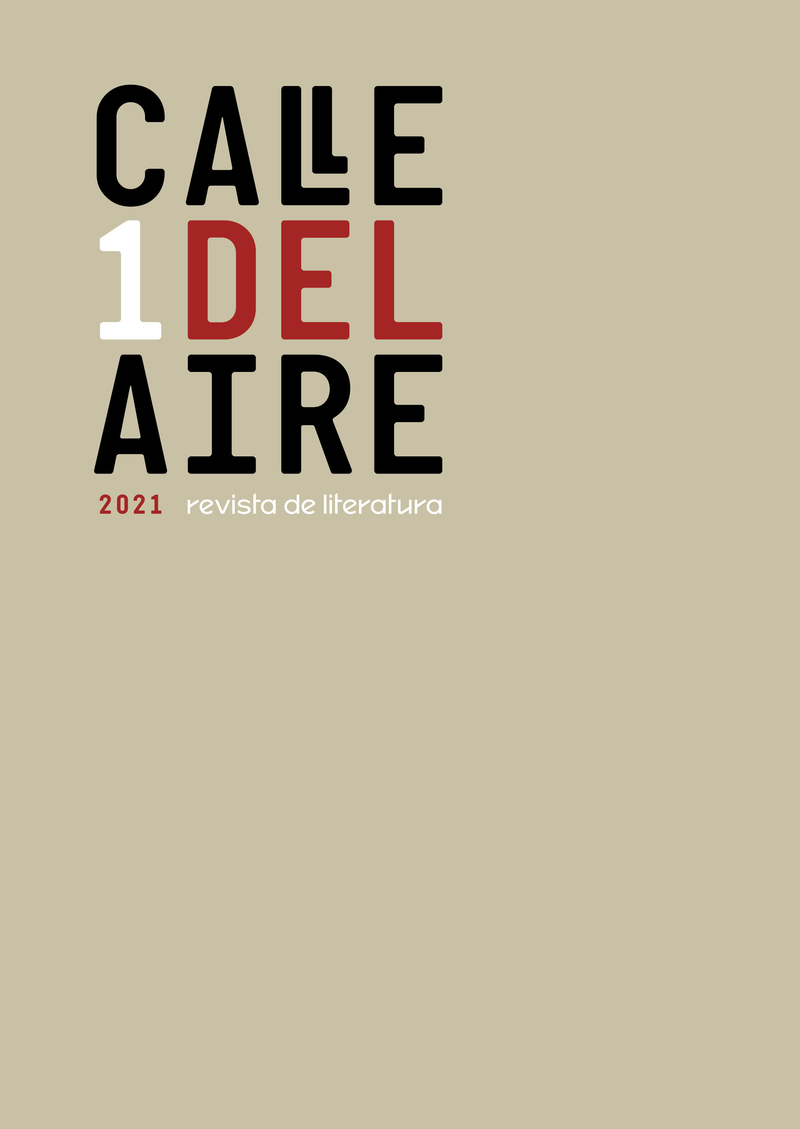 Calle del Aire. Revista de literatura. 1: portada