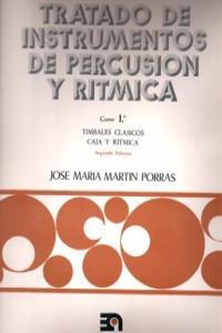 TRATADO INSTRUMENTOS DE PERCUSION Y RITMICA - CURSO 1º: portada