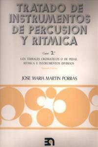 TRATADO INSTRUMENTOS DE PERCUSION Y RITMICA - CURSO 2º: portada