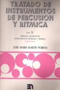 TRATADO INSTRUMENTOS DE PERCUSION Y RITMICA - CURSO 3º: portada