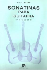 SONATINAS PARA GUITARRA NUMS. 21 A 25: portada