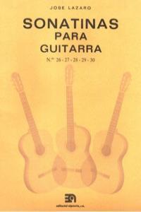 SONATINAS PARA GUITARRA NUMS. 26 A 30: portada