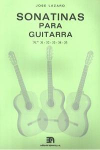 SONATINAS PARA GUITARRA NUMS. 31 A 35: portada