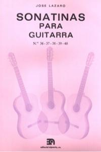 SONATINAS PARA GUITARRA NUMS. 36 A 40: portada