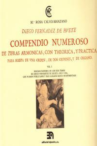 COMPENDIO NUMEROSO DE CIFRAS ARMONICAS PARA ARPA VOL. I: portada