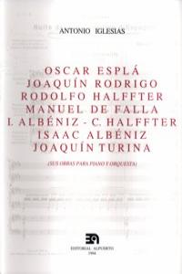 OSCAR ESPLA JOAQUIN RODRIGO HALFFTER SUS OBRAS PARA PIANO: portada