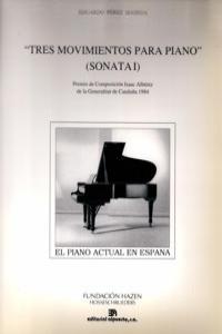 TRES MOVIMIENTOS PARA PIANO (SONATA I): portada