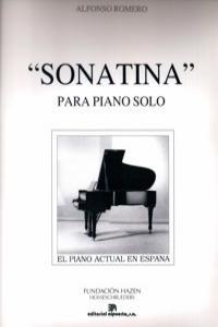 SONATINA (PARA PIANO SOLO): portada