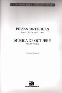 PIEZAS SINTETICAS - MUSICA DE OCTUBRE: portada