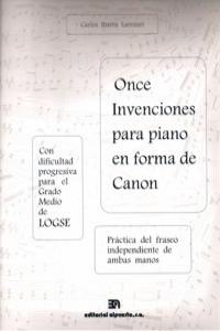 ONCE INVENCIONES PARA PIANO EN FORMA DE CANON: portada