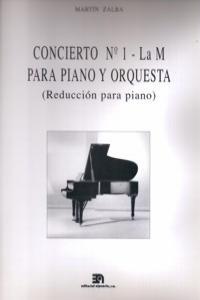 CONCIERTO Nº 1 -LA M-PIANO/ORQ.REDUC.PIA: portada