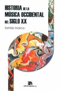 HISTORIA DE LA MUSICA OCCIDENTAL DEL SIGLO XX: portada