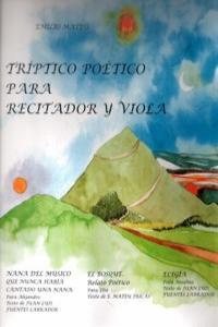 TRIPTICO POETICO PARA RECITADOR Y VIOLA: portada
