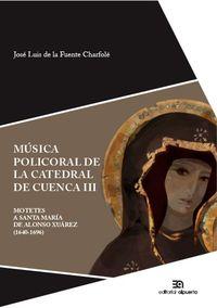 Música policoral de la catedral de Cuenca III: portada