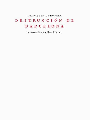 DESTRUCCIÓN DE BARCELONA: portada