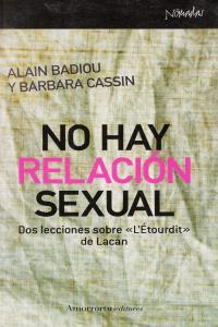 NO HAY RELACIóN SEXUAL: portada