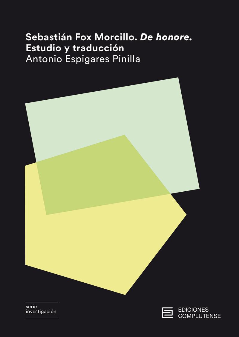 Sebastián Fox Morcillo. De honore. Estudio y traducción.: portada