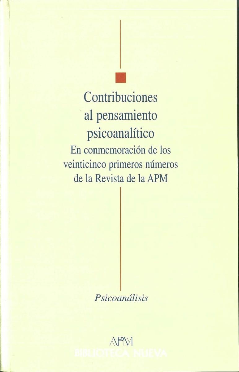 CONTRIBUCIONES AL PENSAMIENTO PSICO-ANALITICO: portada