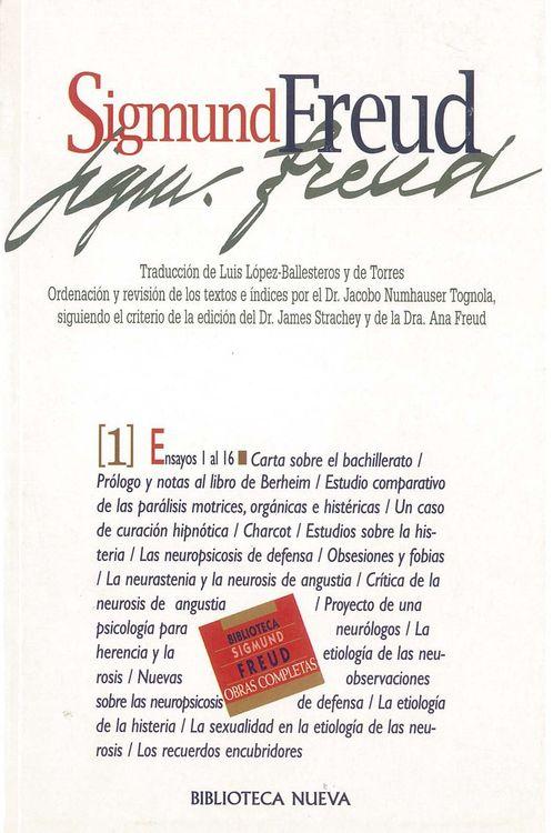 OBRAS COMPLETAS SIGMUND FREUD,TOMO I, ED.BOLSILLO: portada