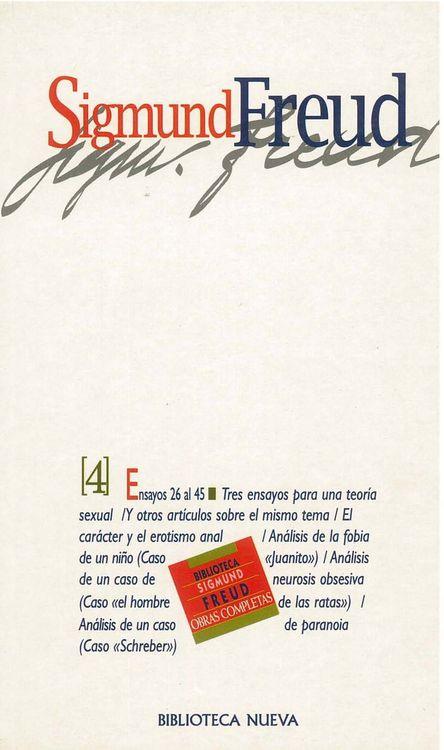 OBRAS COMPLETAS SIGMUND FREUD,TOMO IV, ED.BOLSILLO: portada
