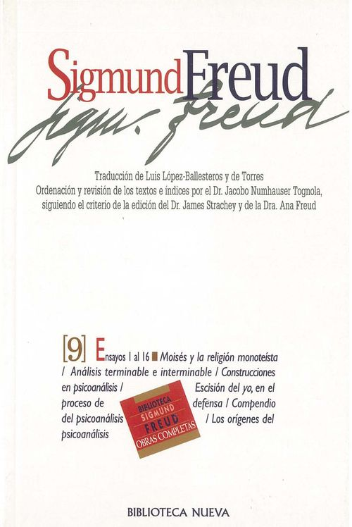OBRAS COMPLETAS SIGMUND FREUD,TOMO IX, ED.BOLSILLO: portada