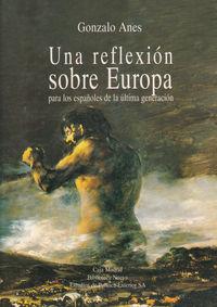 UNA REFLEXION SOBRE EUROPA: portada
