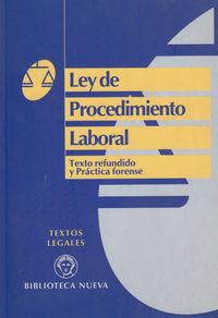 LEY DE PROCEDIMIENTO LABORAL: portada